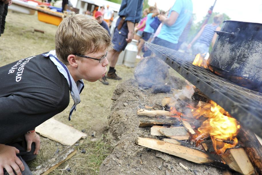31 juillet 2011, 22ème Jamboree Scout Mondial à Rinkaby, Kristianstad, Suède, Photo © Jean-Pierre POUTEAU 2011