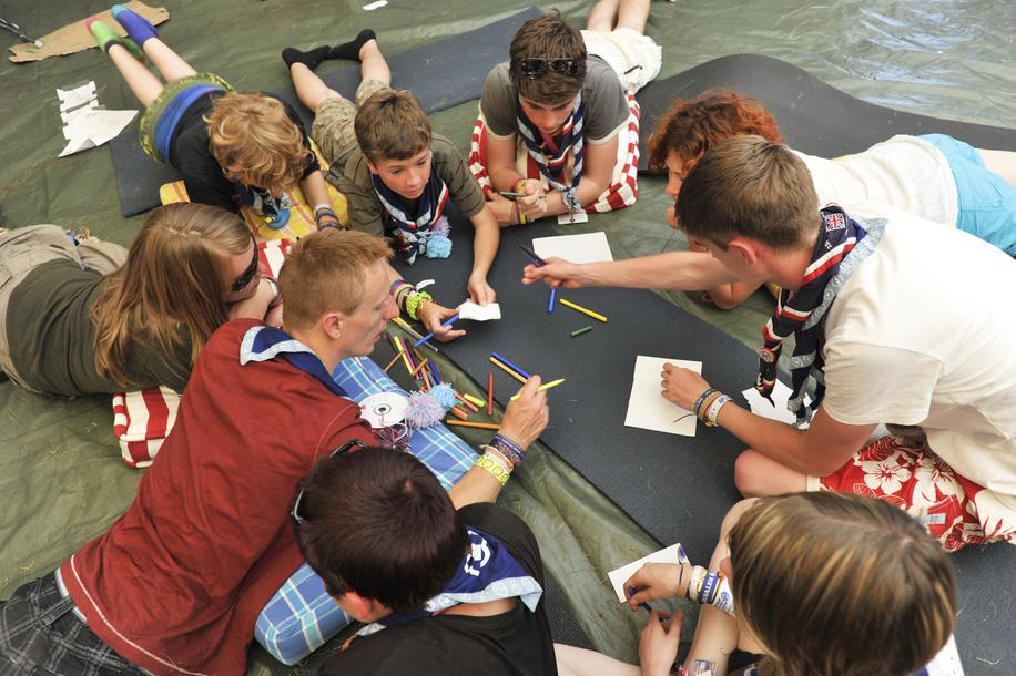 août 2011, 22ème Jamboree Scout Mondial à Rinkaby, Kristianstad, Suède, Photo © Jean-Pierre POUTEAU 2011