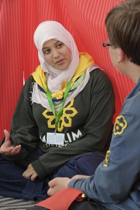 août 2011, religions, foi et croyance au 22ème Jamboree Scout Mondial à Rinkaby, Kristianstad, Suède, Photo © Jean-Pierre POUTEAU 2011