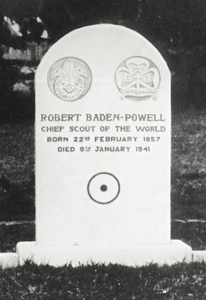 Death of Lord Baden-Powell, January 8. Mort de Lord Baden-Powell, le 8 janvier.