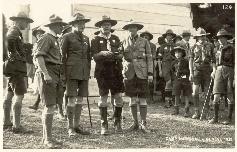 Baden Powell in Geneva, 1932