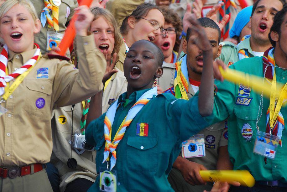 The centenary of Scouting ,1st August 2007- Scouting Sunrise ceremony  Brownsea Island