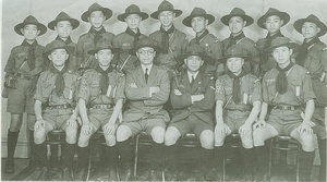 Boy Scouts of China participated the 1st National Jamboree of Boy Scouts of America   This photo was taken on 1935 in New York.