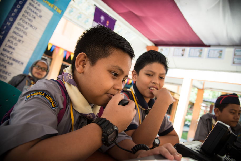 Jamboree on  the Air & Jamboree on the Internet (JOTA JOTI ), Scouts from Malaysian enjoy the Activities of the JOTA JOTI weekend 2017