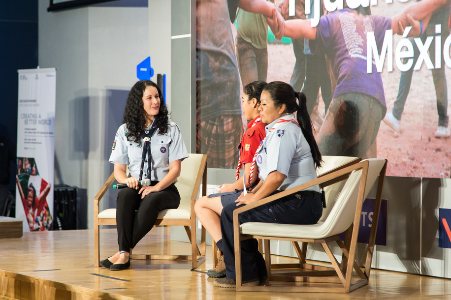 Kenia Diaz and Marciela Rosales – Scouting Experience in Tijuana, Mexico  World Scout Foundation - Investor Conference 2018 Mexico, Universidad Panamericana UP - Mexico