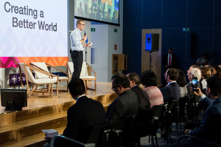 Camilo Ayala – Peace through dialogue in Colombia  World Scout Foundation - Investor Conference 2018 Mexico, Universidad Panamericana UP - Mexico