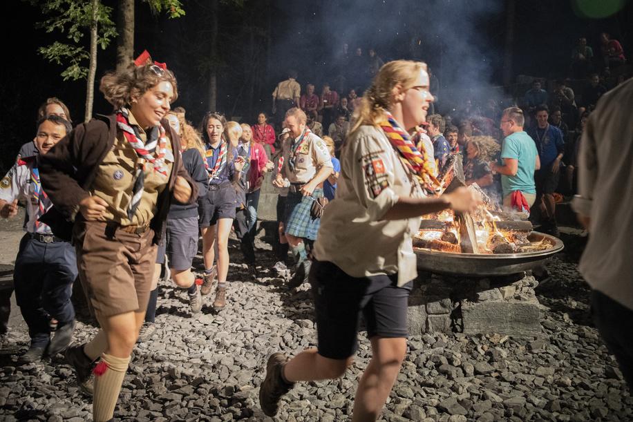International Campfire  during the International Rover week 2018