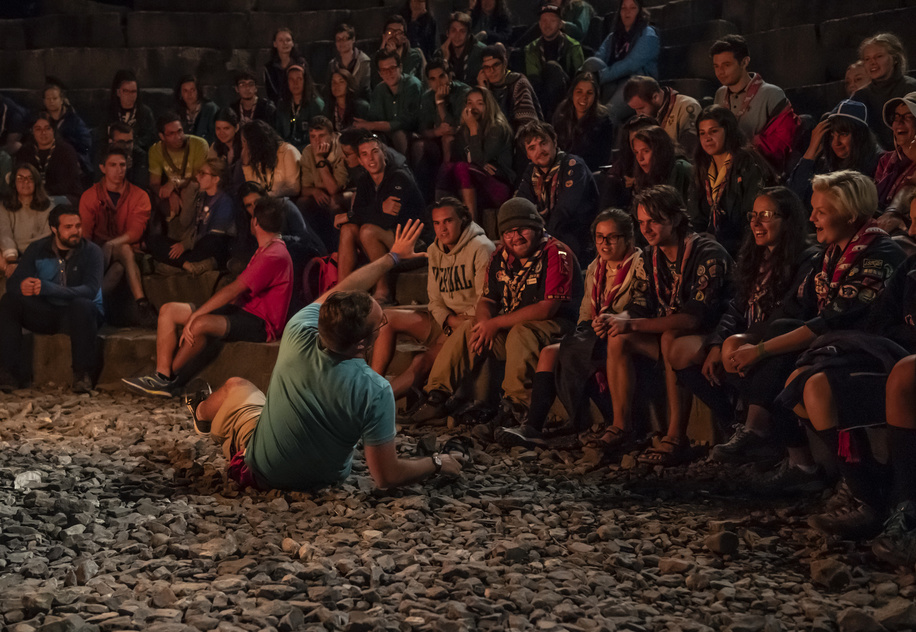 International Campfire  during the International Rover week 2018