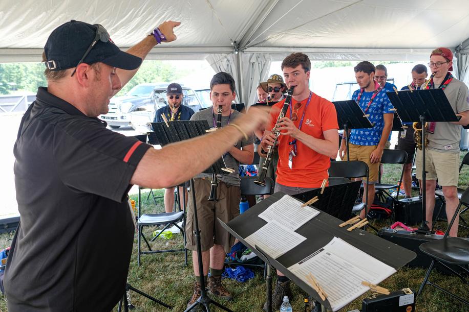 24th World Scout Jamboree, in Summit Bechtel Reserve, West-Virginia, USA - les IST au travail. Photo © Jean-Pierre POUTEAU 2019