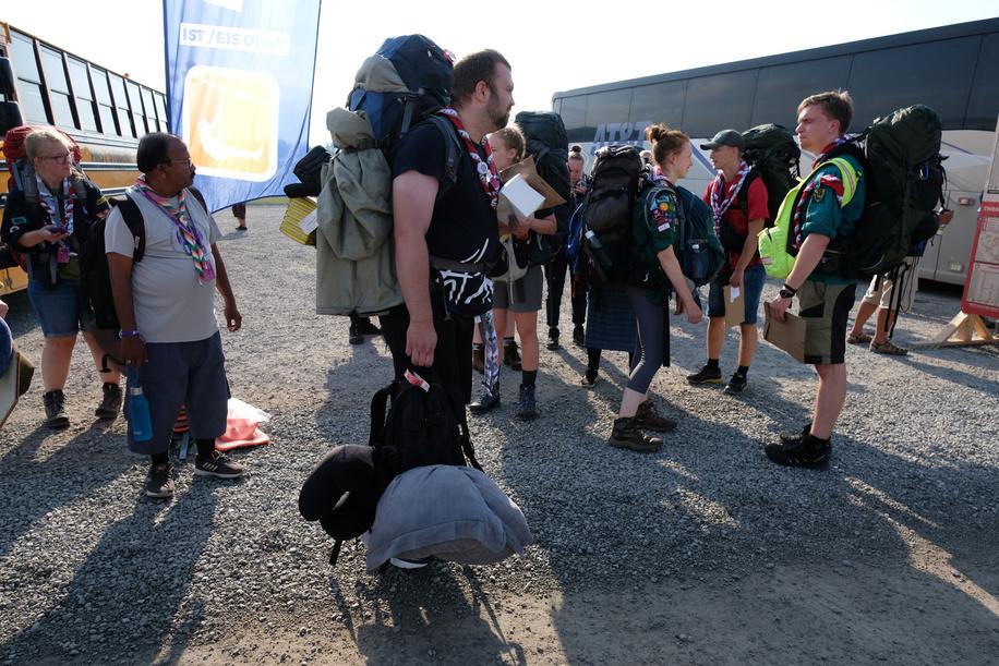 24th World Scout Jamboree, in Summit Bechtel Reserve, West-Virginia, USA - Arrivée des IST. Photo © Jean-Pierre POUTEAU 2019