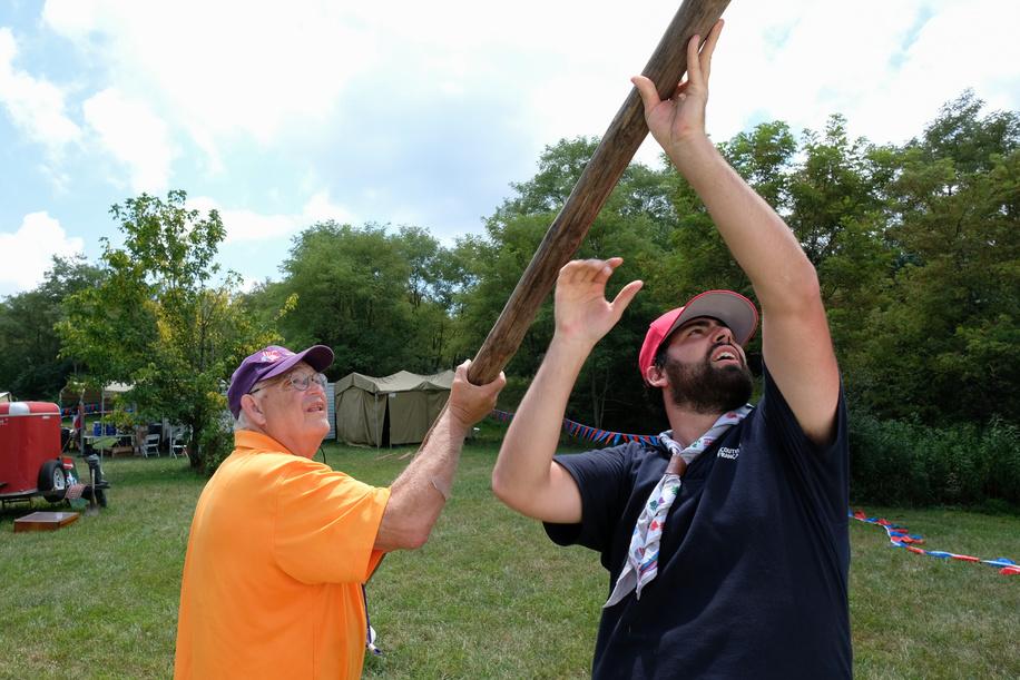 24th World Scout Jamboree, in Summit Bechtel Reserve, West-Virginia, USA - les IST au travail à Mt Jack. Photo © Jean-Pierre POUTEAU 2019