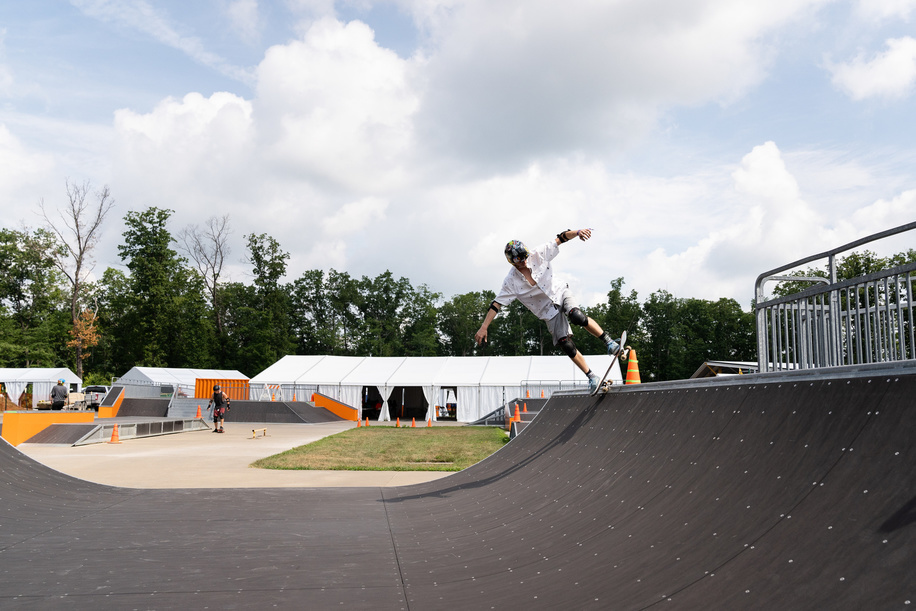 ISTs preparing the skateboarding activities for the 24th World Scout Jamboree, North America in West Virginia.