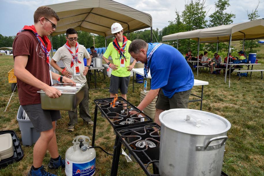 """24th World Scout Jamboree, in Summit Bechtel Reserve, West-Virginia, USA - Arrivée des délégations dans le camp """"C"""". Photo © Jean-Pierre POUTEAU 2019"""
