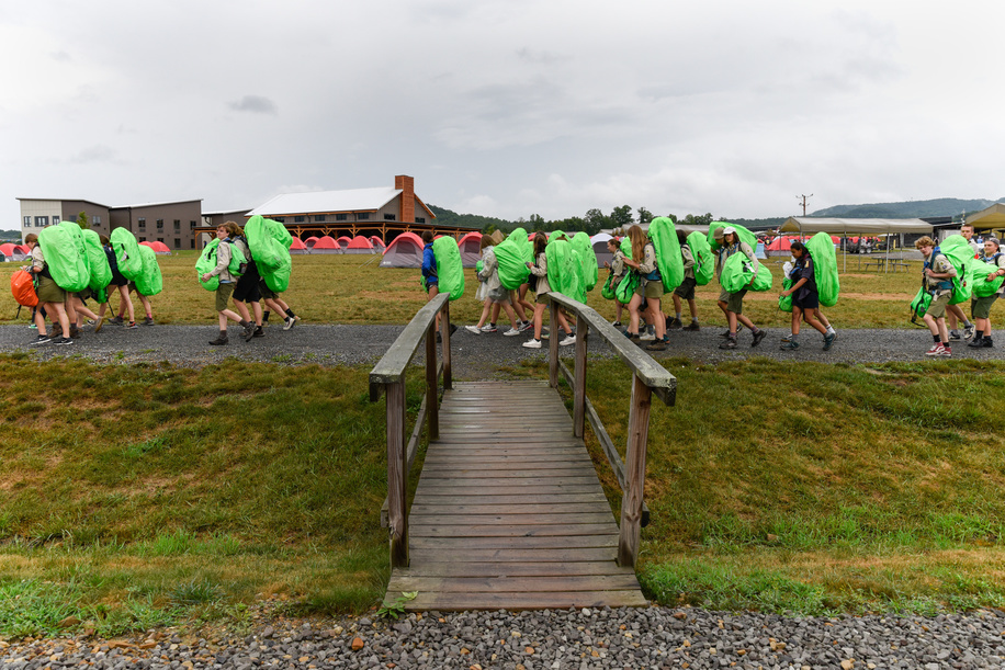 24th World Scout Jamboree, in Summit Bechtel Reserve, West-Virginia, USA - Arrivée des délégations. Photo © Jean-Pierre POUTEAU 2019