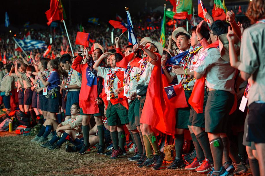24th World Scout Jamboree, in Summit Bechtel Reserve, West-Virginia, USA - Cérémonie d'ouverture. Photo © Jean-Pierre POUTEAU 2019