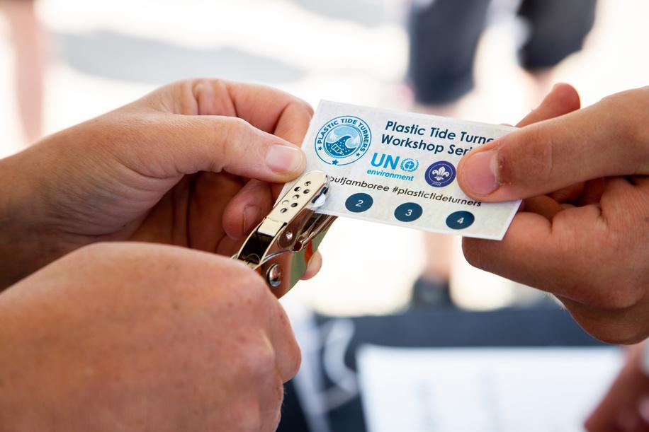 UN Plastic Tide Turners & Ocean Heroes Badge