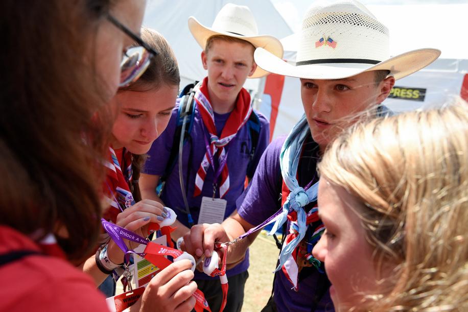 24th World Scout Jamboree, in Summit Bechtel Reserve, West-Virginia, USA - Ambiance au Summit Center. Photo © Jean-Pierre POUTEAU 2019