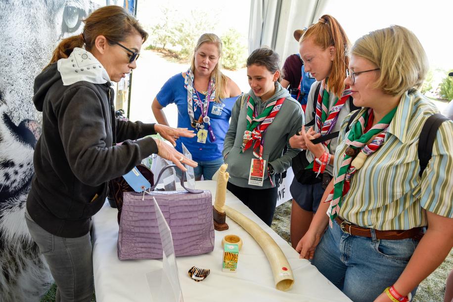 24th World Scout Jamboree, in Summit Bechtel Reserve, West-Virginia, USA - Village Global du Développement. Photo © Jean-Pierre POUTEAU 2019