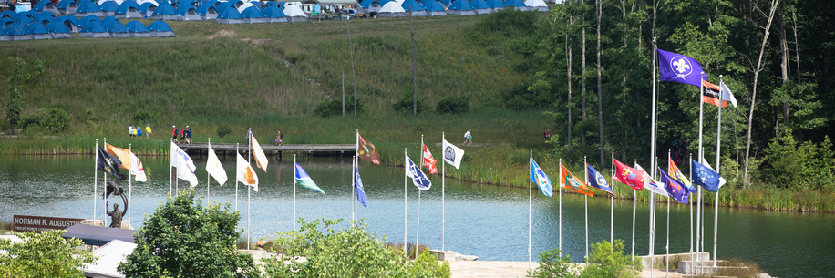 Flags flying at the World Scout Jamboree