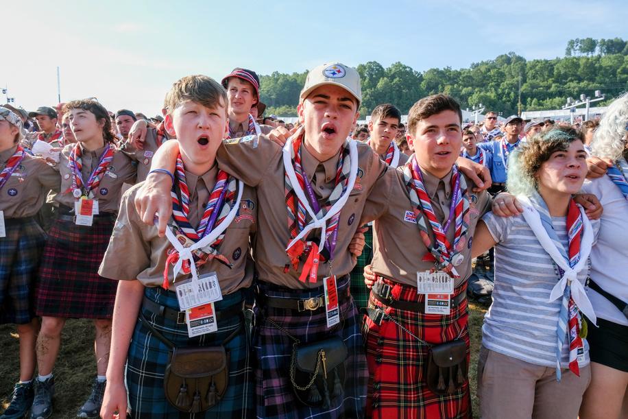 24th World Scout Jamboree, in Summit Bechtel Reserve, West-Virginia, USA - Cérémonie inter-religieuse d'union. Photo © Jean-Pierre POUTEAU 2019