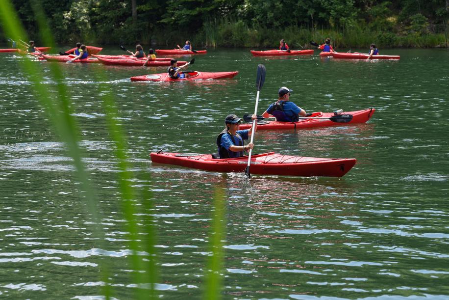 24th World Scout Jamboree, in Summit Bechtel Reserve, West-Virginia, USA -activités nautiques. Photo © Jean-Pierre POUTEAU 2019