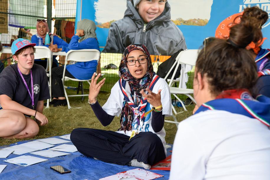 24th World Scout Jamboree, in Summit Bechtel Reserve, West-Virginia, USA - Village du Développement Global. Photo © Jean-Pierre POUTEAU 2019