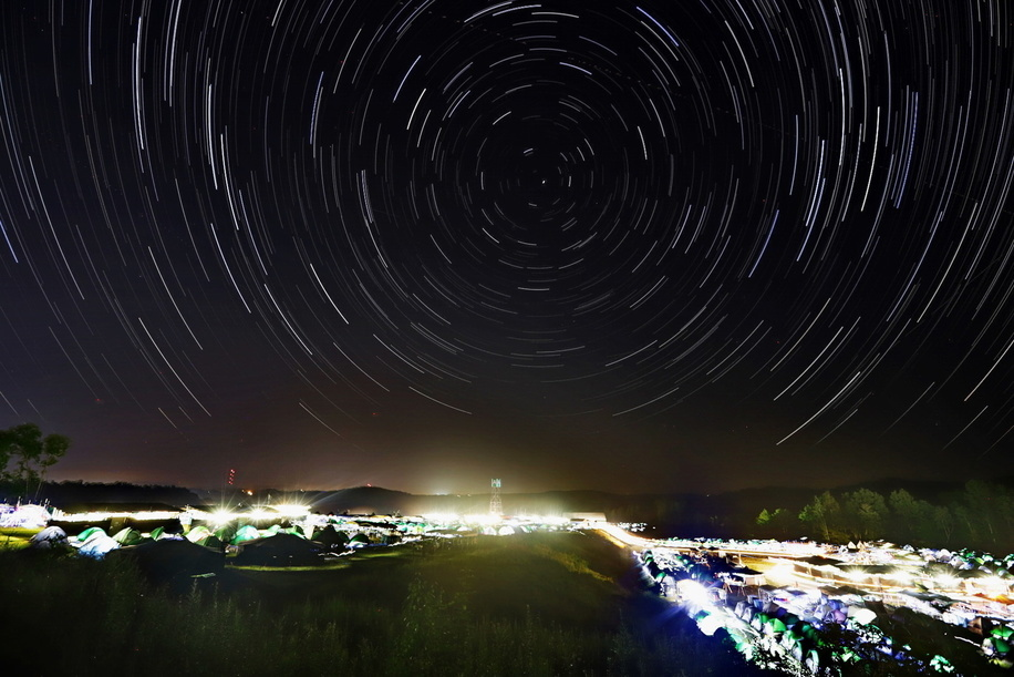Startrails in Jamboree site. Canon EF 16-35mm f2.8 II USM Canon EOS 6D MarkII