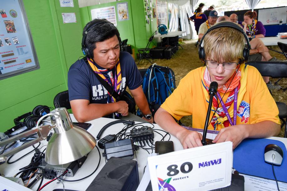 24th World Scout Jamboree, in Summit Bechtel Reserve, West-Virginia, USA - JOTA-JOTI. Photo © Jean-Pierre POUTEAU 2019