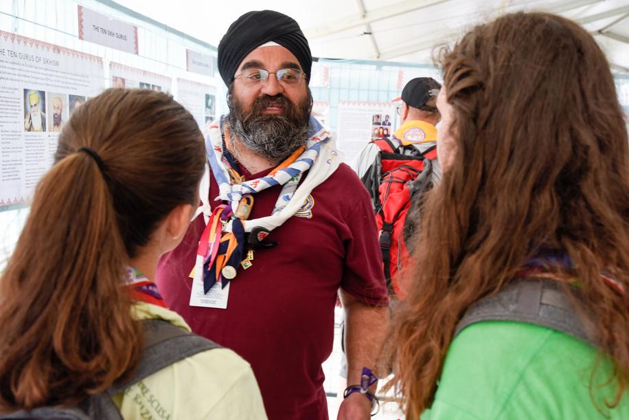 24th World Scout Jamboree, in Summit Bechtel Reserve, West-Virginia, USA - Tente Foi et Croyances - Sikhs. Photo © Jean-Pierre POUTEAU 2019