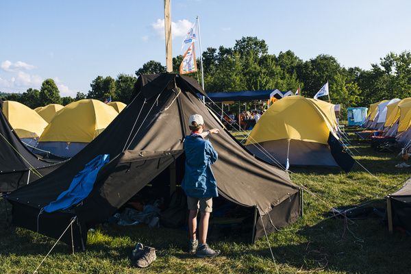 Sub-camp life in the end of the day in Foxtrot, the most remote of all sub-camps at the 24th World Scout Jamboree.