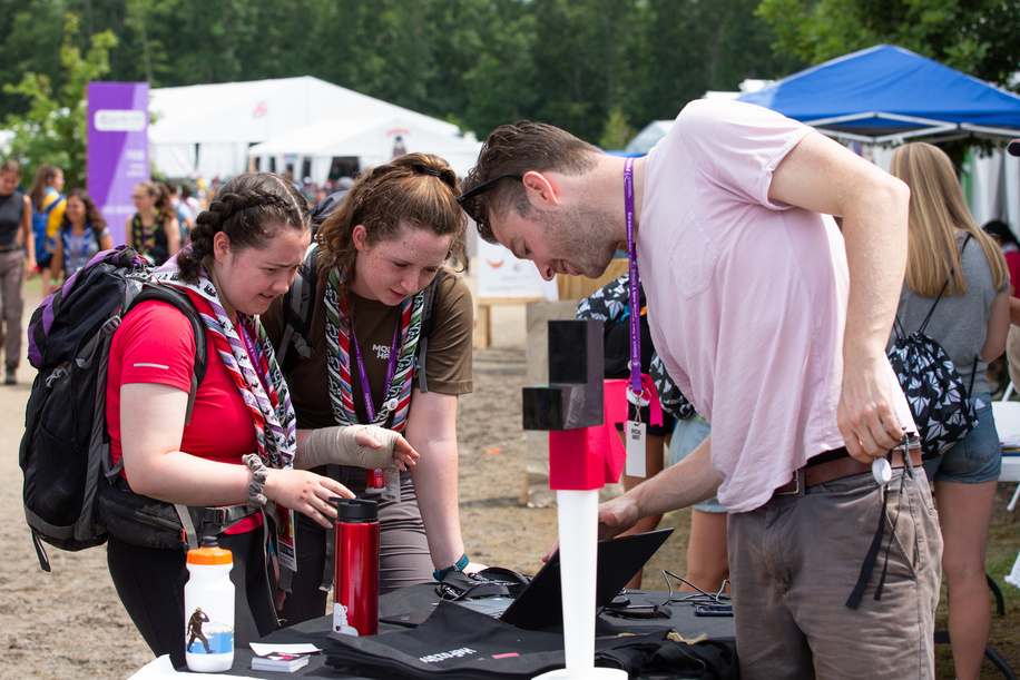 He for she work at the World Scout Jamboree