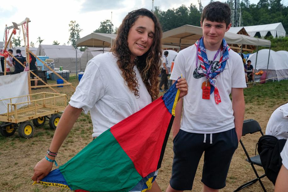 24th World Scout Jamboree, in Summit Bechtel Reserve, West-Virginia, USA - Scouts et Guides de France. Photo © Jean-Pierre POUTEAU 2019
