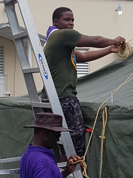 Scouts Respond to Hurricane Dorian in the Bahamas. On September 1st the most powerful storm to ever hit the Bahamas, Hurricane Dorian, made landfall, causing severe flooding, damaging or destroying 13,000 homes, leaving thousands of families with no shelter and limited access to food and water. Scouts from all over the country reacted as first responders to aid the emergency relief efforts conducted.