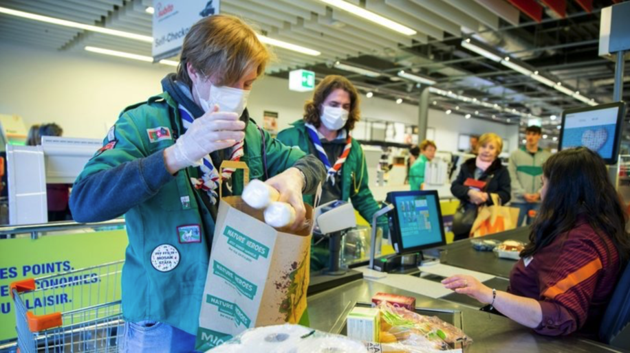 Scouts have running grocery delivery and dog walking services.