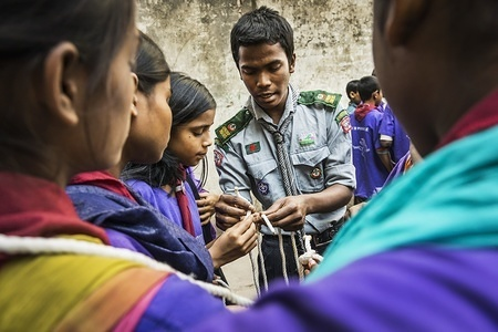 TICKET TO LIFE project - Bangladesh. This project integrates street children to society, through Scouting