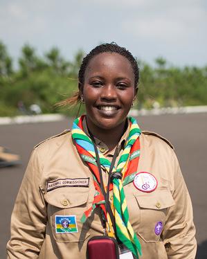 A series of photos showing the different faces of the jamboree. A project to show the variety of faces of the 23rd World Scout Jamboree.  Please see the keywords for the country of each person.