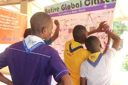 Africa Scout Day International Youth Camp and Training on Youth Engagement in Good Governance that took place at Efua Sutherland Children's Park in Accra, Ghana from 9 - 12 March 2016
