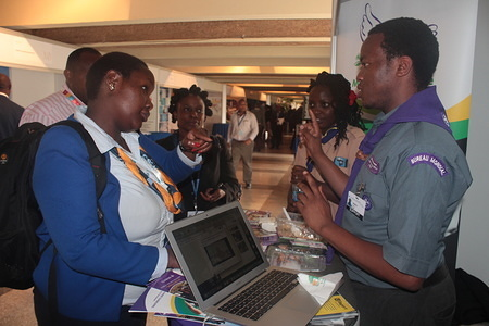"""WOSM Africa Region's Exhibition """"Youth-led Environmental Education for Sustainable Development"""" Exhibition at the 2nd United Nations Environmental assembly held at the United Nations Office in Nairobi from 23 - 27 May 2016"""