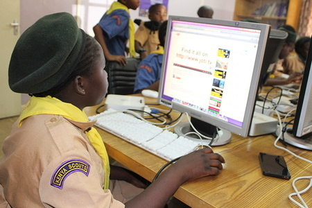 JOTA-JOTI 2016 event at the World Scout Bureau Africa Support Centre