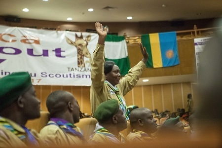 2017 All Africa Scout Day celebrations held at the Magereza Grounds Kisongo and at the  Arusha International Conference Centre