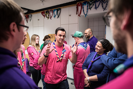 Introduction and Welcome session to the staff of the 2nd World Scout Education Congress, Kandersteg 2017