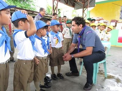 Visit of SG Ahmad to Ticket to Life Malate Scout Troop