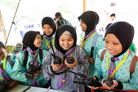 Malaysian Scouts Celebrating Jota Joti in Kuala Lumpur