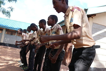 A visit conducted by a delegation of World Scouting, Africa Scout Region and Kenya Scouts Association to assess the situation of Scouting with refugees at Dadaab Refugee Camp in Dadaab Sub County, Garissa County in Kenya.