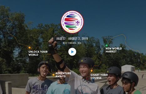 24th World Scout Jamboree 2019, North America  The World Scout Jamboree is  an educational event that brings together the world's young people to promote peace and mutual understanding and to develop leadership and life skills.